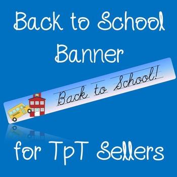 Banner for your store that says Back to School