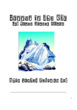 Banner in the Sky Comprehension Packet