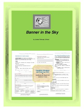 Banner in the Sky Complete Literature and Grammar Unit