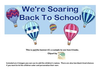 Banner or Bulletin Board Heading With a Back to School Theme-Balloons
