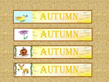 Autumn - Banners - Clip Art - Personal or Commercial Use