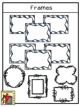 Banners, Backgrounds and Frames Clipart Bundle - Winter Edition