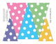 Banners Big and Small: Pennants pink, orange, yellow, purple, gray, green