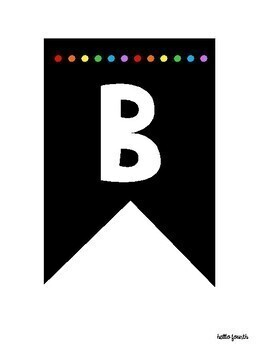 Bulletin Board Letters ~ Bunting in Colored Dots or Black and White