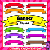 Clip Art Banners in Bright Colors   Text Frames