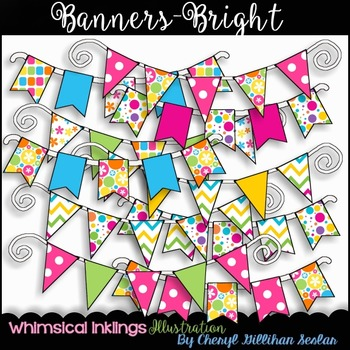 Banners-Bright Clipart Collection
