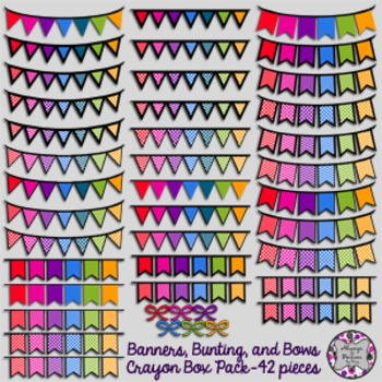 Banners, Bunting and Bows-Crayon Box Pack