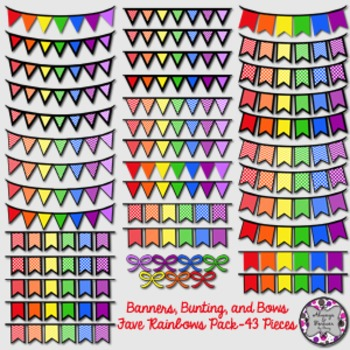 Banners, Bunting and Bows-Favorite Rainbows Pack