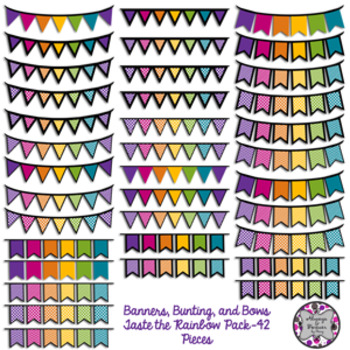 Banners, Bunting and Bows-Taste the Rainbow Pack