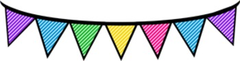 Banners, Bunting and Bows-Unicorn Rainbow Pack