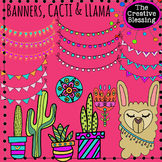 Banners, Cactus, and Llama Clipart