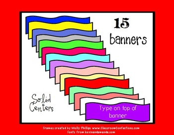 Banners Clip Art {Commercial Use}