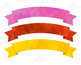 Banners Clip Art, Rainbow Watercolor Banners