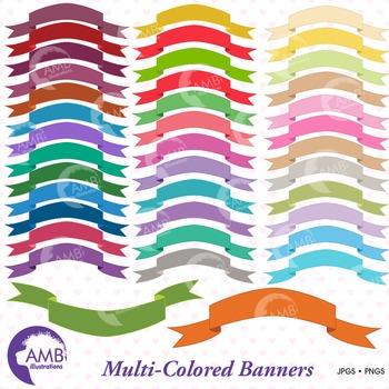 Banners Clipart, Banner Clipart, Banner Clip Art, AMB-108