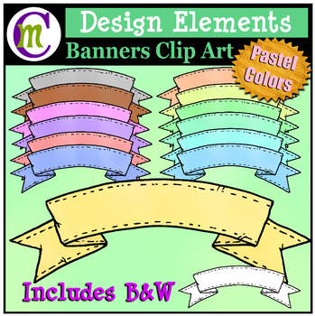 Banners Clipart | Design Elements Pastel