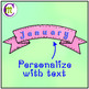 Banners Clipart Pastel