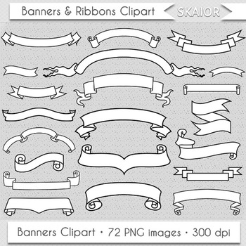 Banners Clipart White Ribbons Clip Art Scrapbooking Invitations