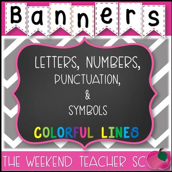 Banners Colorful Lines