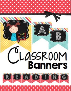 Banners - Complete Alphabet - Reading - Word Wall - Bulletin Boards