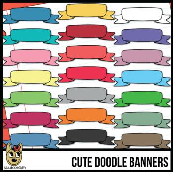 Banners: Cute Doodle Clip Art