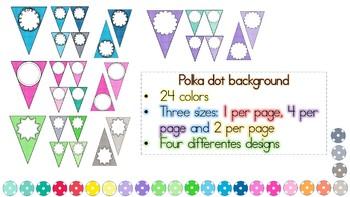 Editable Banners Polka Dot