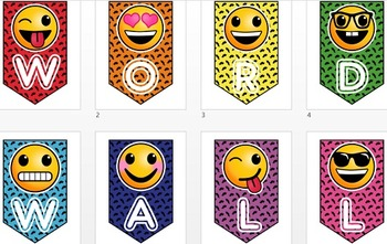 Banners-Emoji Themed! Perfect for Centers and Bulletin Boards