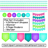 Banners, Frames, Page Dividers, Shapes, Clip Art
