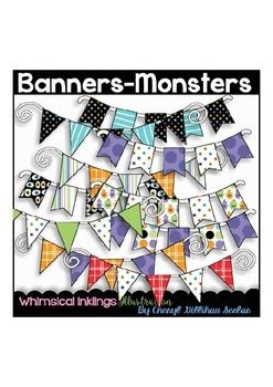 Banners-Monsters Clipart Collection
