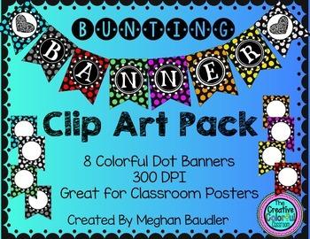 Polka Dot Clip Art Banners