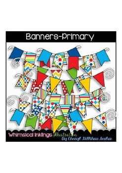 Banners-Primary Clipart Collection