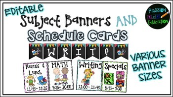 Banners & Schedule Cards (EDITABLE!)