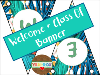 """Banners - """"Welcome"""" / """"Class of"""" - Island Vibes"""