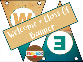 "Banners - ""Welcome"" / ""Class of"" - Ocean"