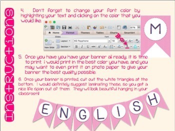 Editable Banners-Add Your Own Text & Fonts, Colorful!
