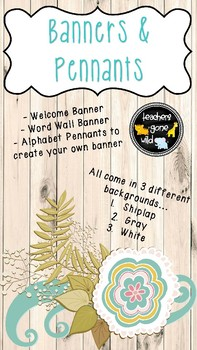 Banners and Pennants (Welcome Banner, Word Wall Banner, Alphabet Pennants)