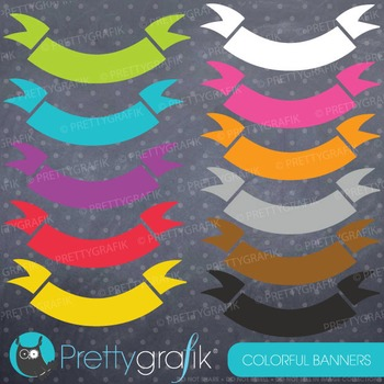 Banners clipart commercial use, vector, digital - CL766