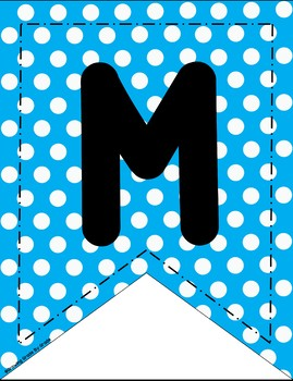 Classroom Banners Polka Dot Themed