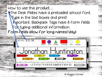 Banners for Classroom with Editable Desk Plates and Bus Tags