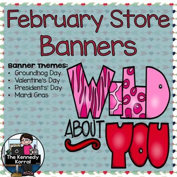 February Store Banners {4 Pre-made Banners}
