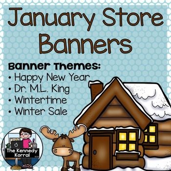 January Store Banners {4 Pre-made Banners}