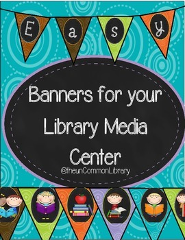 Banners for your Library Media Center - Swirl Pattern