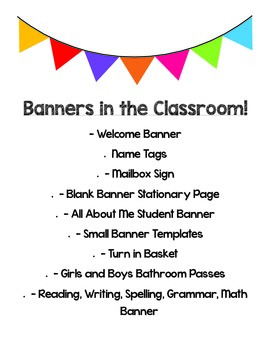 Banners in the Classroom
