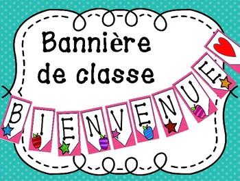 """Bannière de classe """"Bienvenue"""" - French Classroom Decor"""