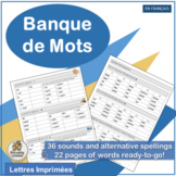 "French Word Bank that complements ""Le manuel Phoniques"""