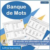 French: Banque de Mots complements Jolly Phonics Le manuel