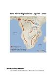 Bantu Africa Migrations Map Study of Language