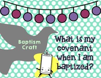 Baptism Baptismal Promises Craftivity