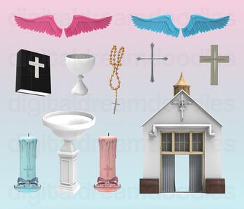 Baptism Clip Art - Church Digital Graphics