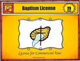 Baptism and Baptism of the Lord Clip Art - Commercial Use License