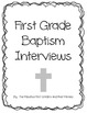 Baptism Interview for First and Second Graders